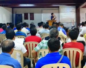 Pastor Joe teaching at a Pastors' Conference